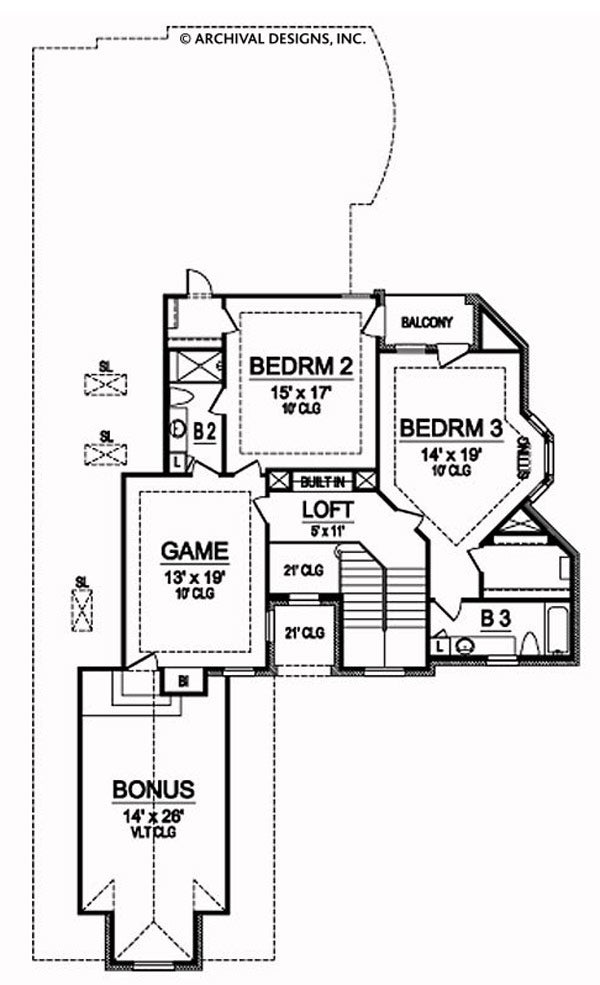 Canyon Springs second floor, floor plan