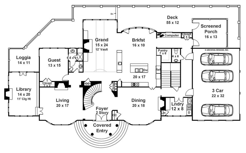 Carmichael Estate first floor, floor plan