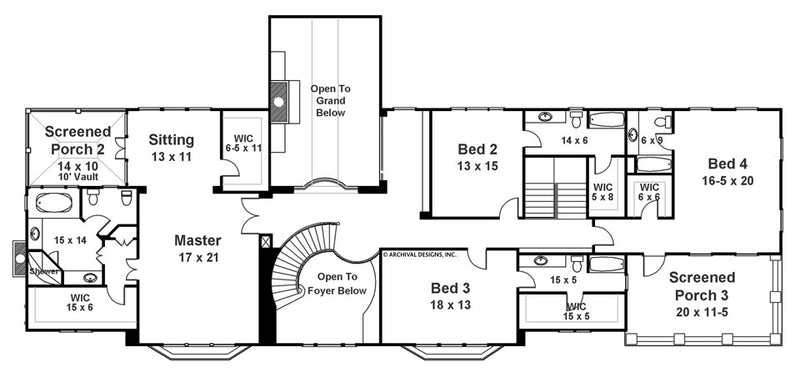 Carmichael Estate second floor, floor plan
