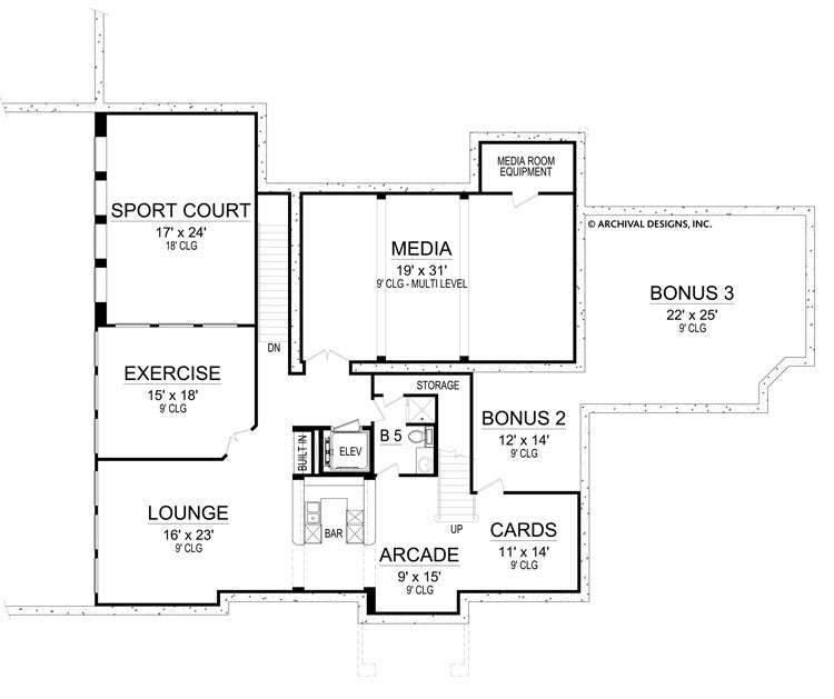 Casa Di Lusso basement, floor plan