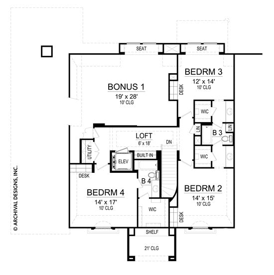 Casa Di Lusso second floor, floor plan