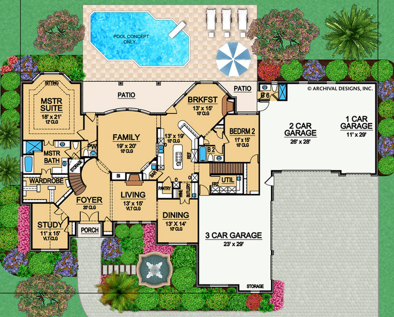 Castle Hill first floor, floor plan