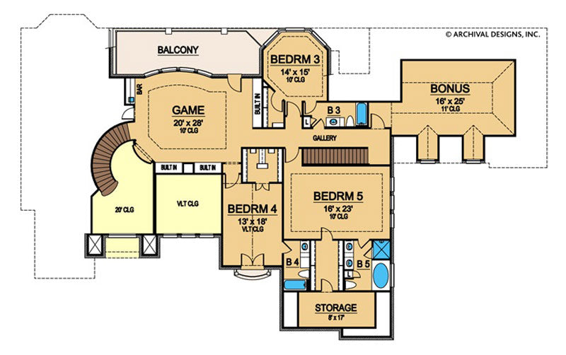 Castle Hill second floor, floor plan