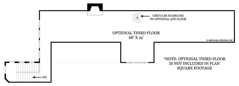 Castle of Ourem third floor, floor plan