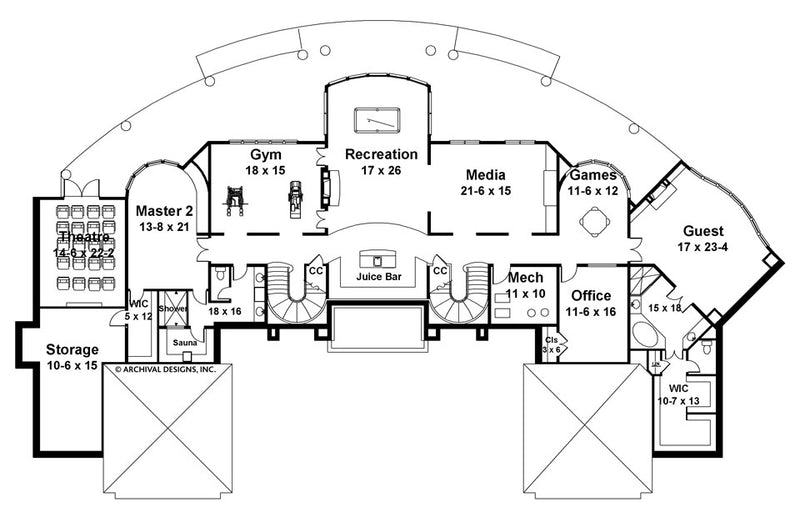 Champlatreaux basement floor plan