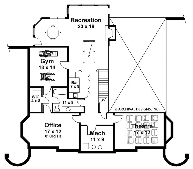 Chandler basement floor plan