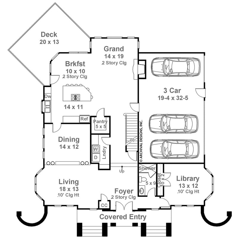 Chandler first floor, floor plan