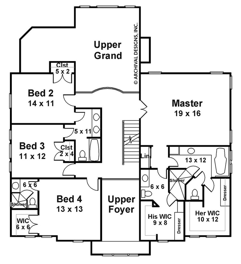 Chandler second floor, floor plan