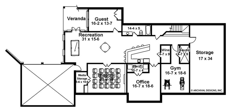 Charleston basement floor plan