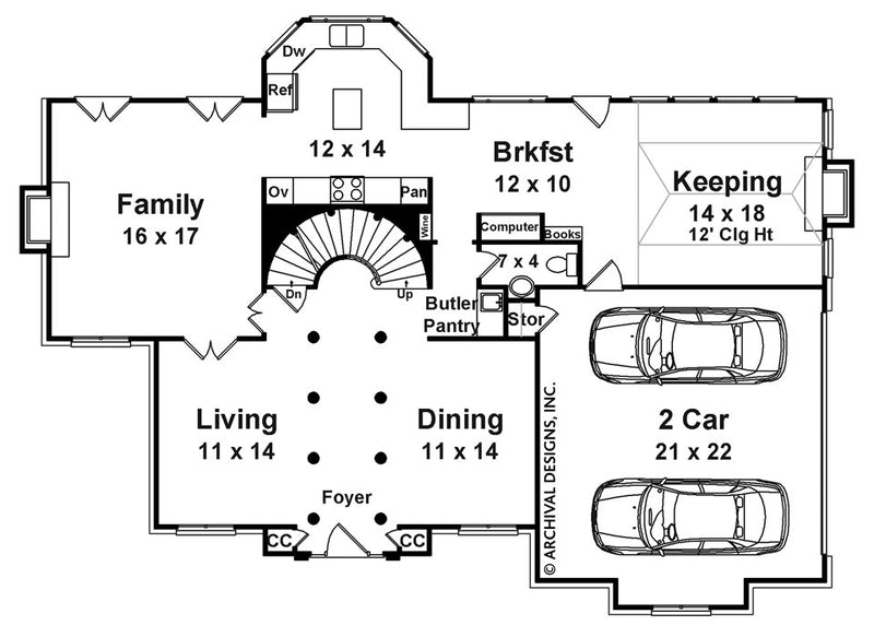 Chassereau first floor, floor plan
