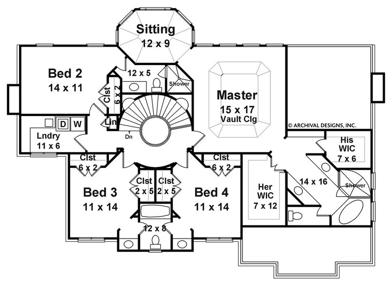 Chassereau second floor, floor plan