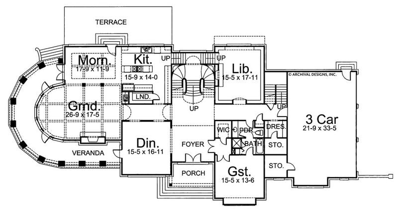Chateau Melliant first floor, floor plan