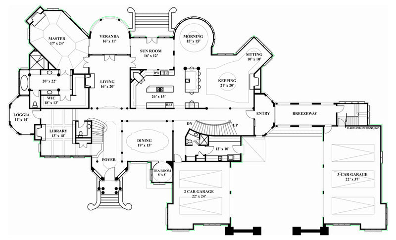 Chateaubriand first floor, floor plan