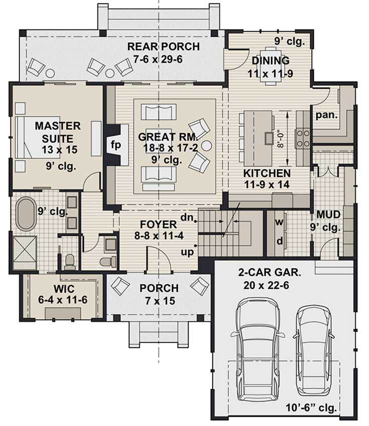 Cherry Pond Farm, first floor plan