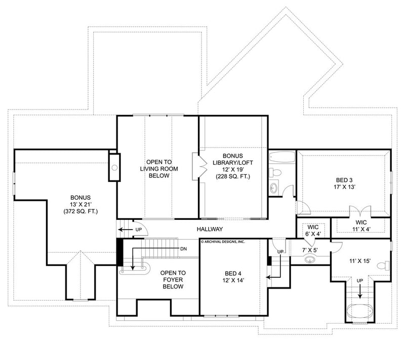 Chesterfield second floor, floor plan