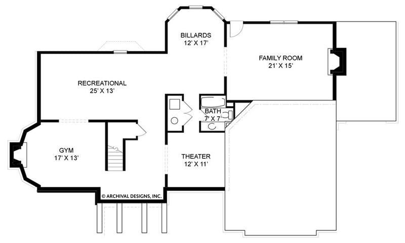Chestnut Street basement floor plan