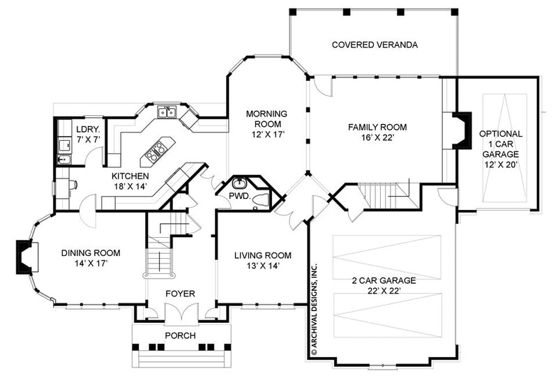 Chestnut Street first floor, floor plan