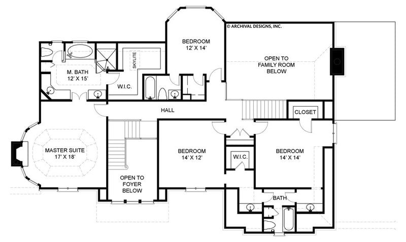 Chestnut Street second floor, floor plan