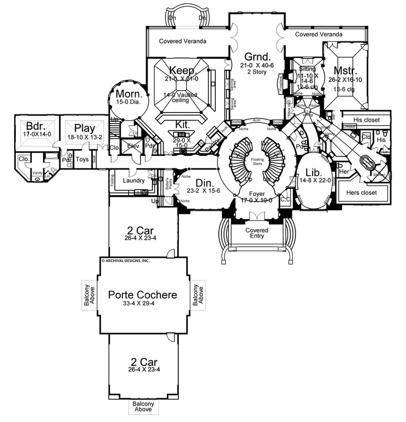 Cheverny first floor plan