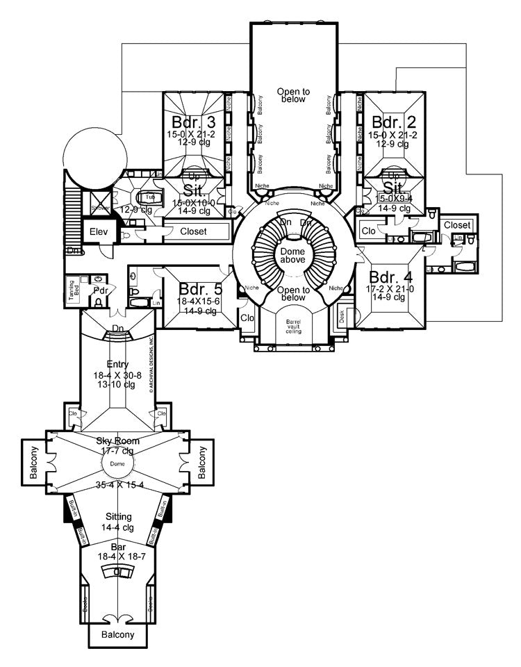 Cheverny second floor plan
