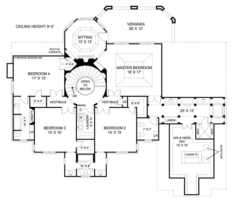 Chiswick second floor, floor plan