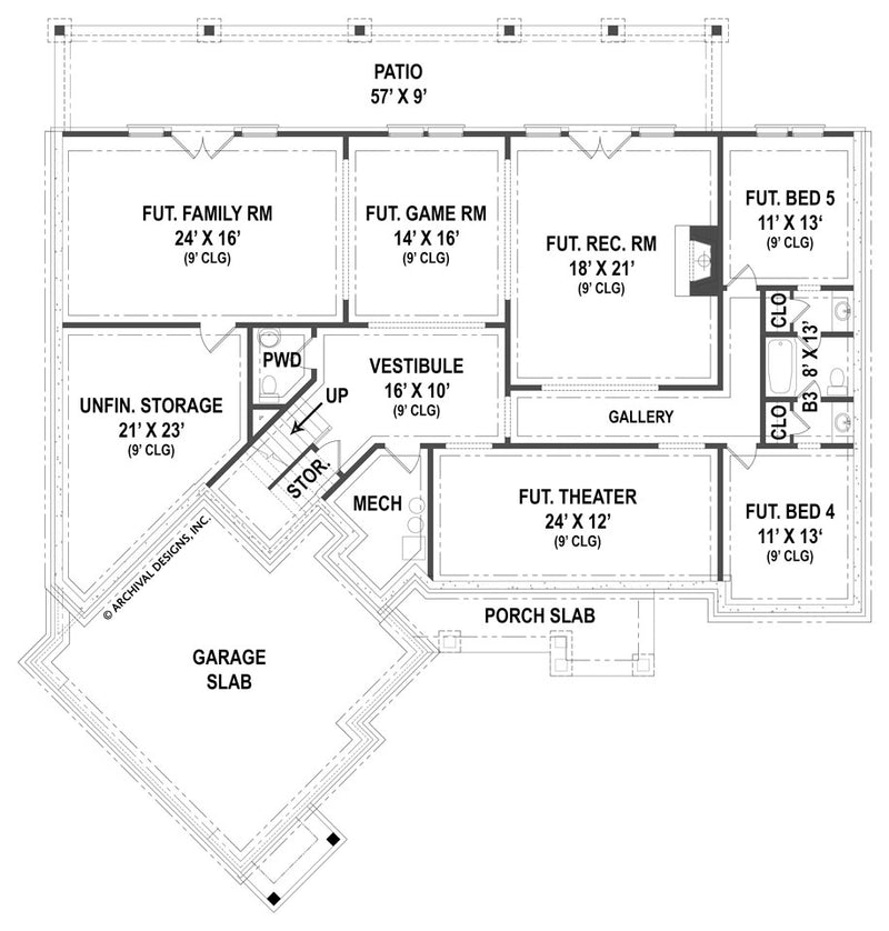 Clarita basement floor plan