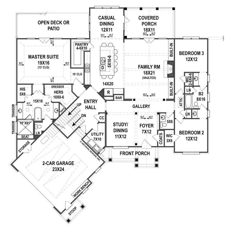 Clarita Place first floor, floor plan