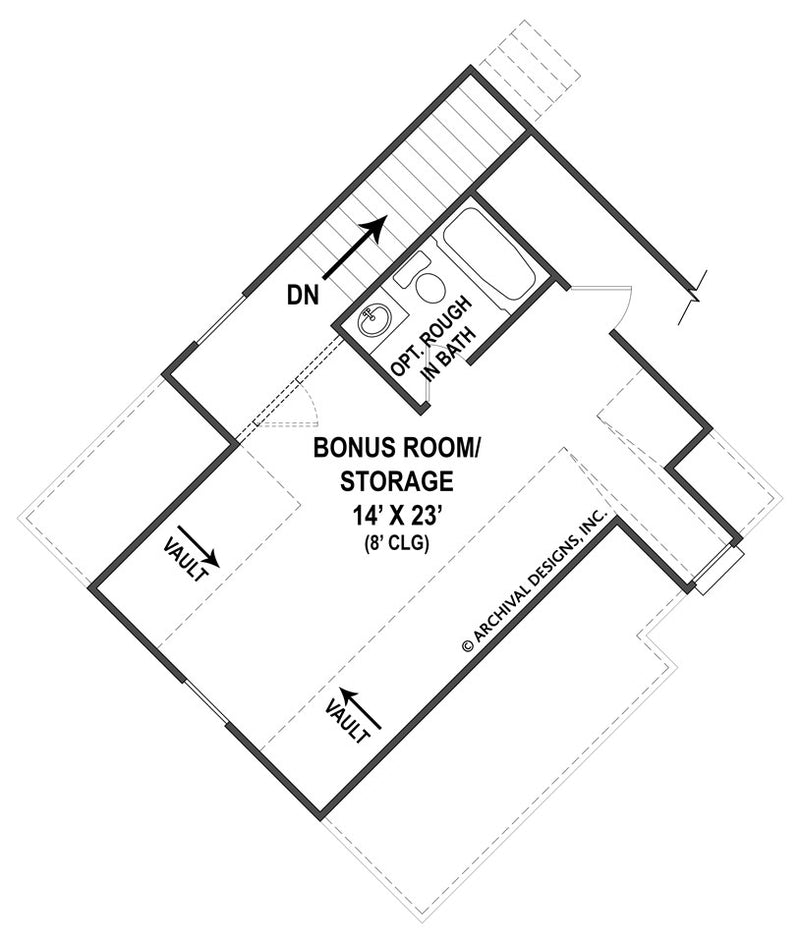 Clarita second floor, floor plan