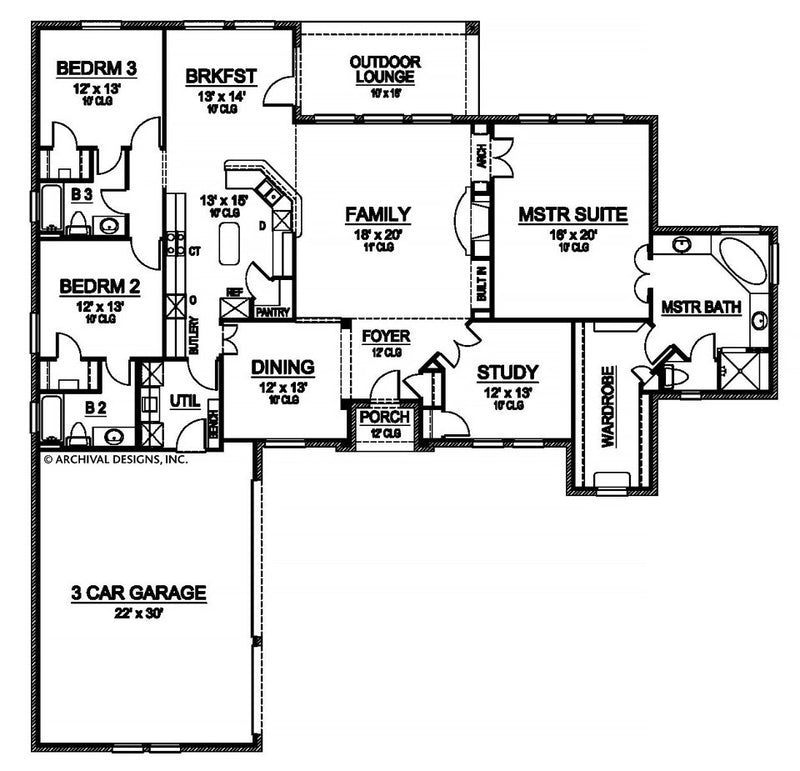 Cobbs Creek first floor, floor plan
