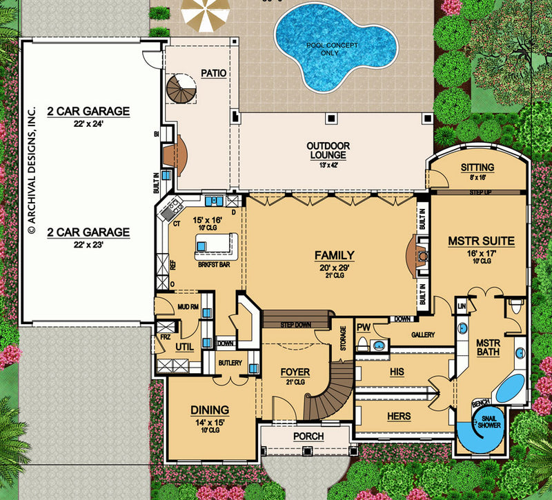 Colorado first floor, floor plan