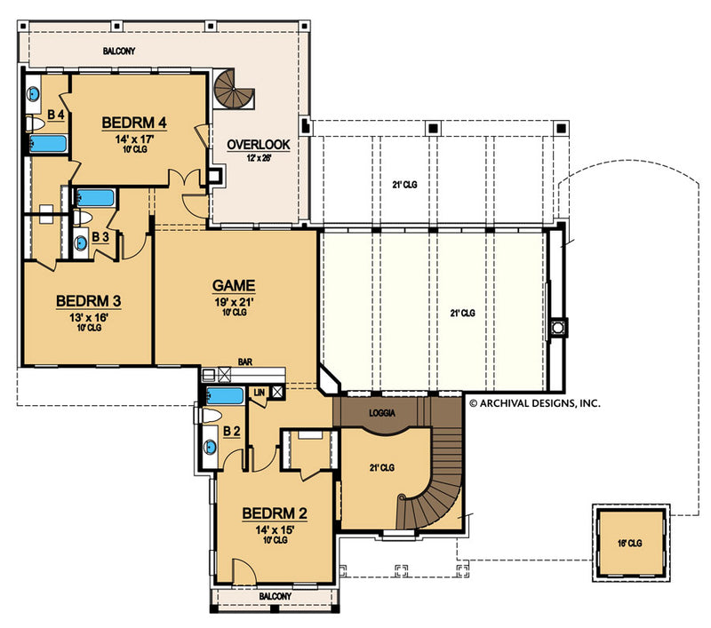 Colorado second floor, floor plan