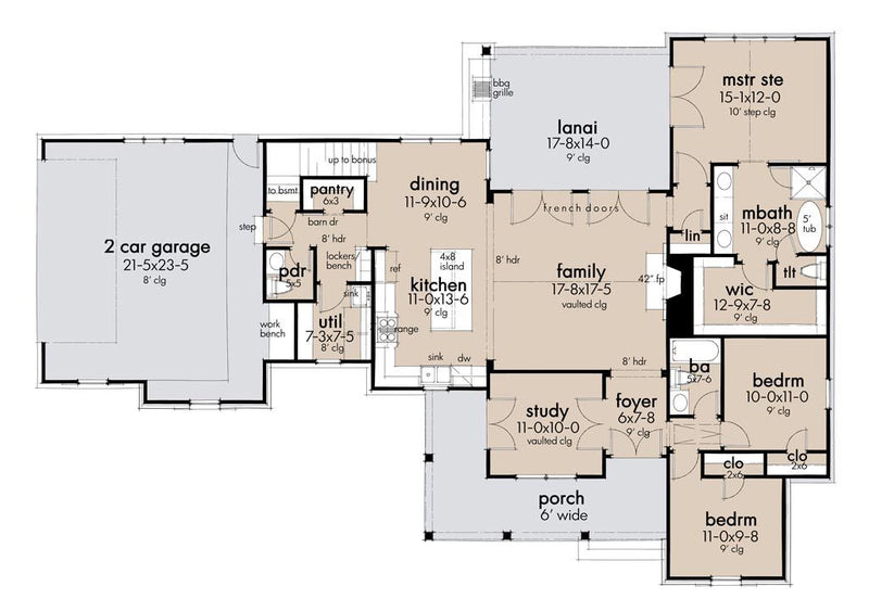 First Floor Plan | Cool Meadow Farmhouse Plan