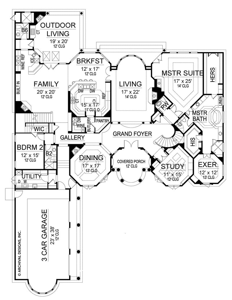 Cordillera first floor, floor plan