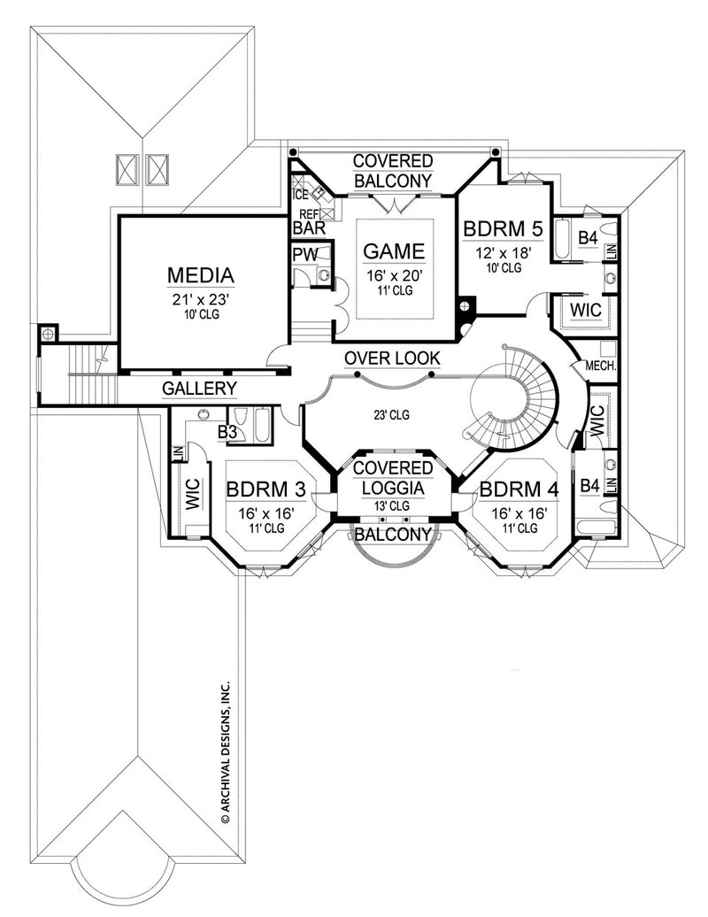 Cordillera second floor, floor plan