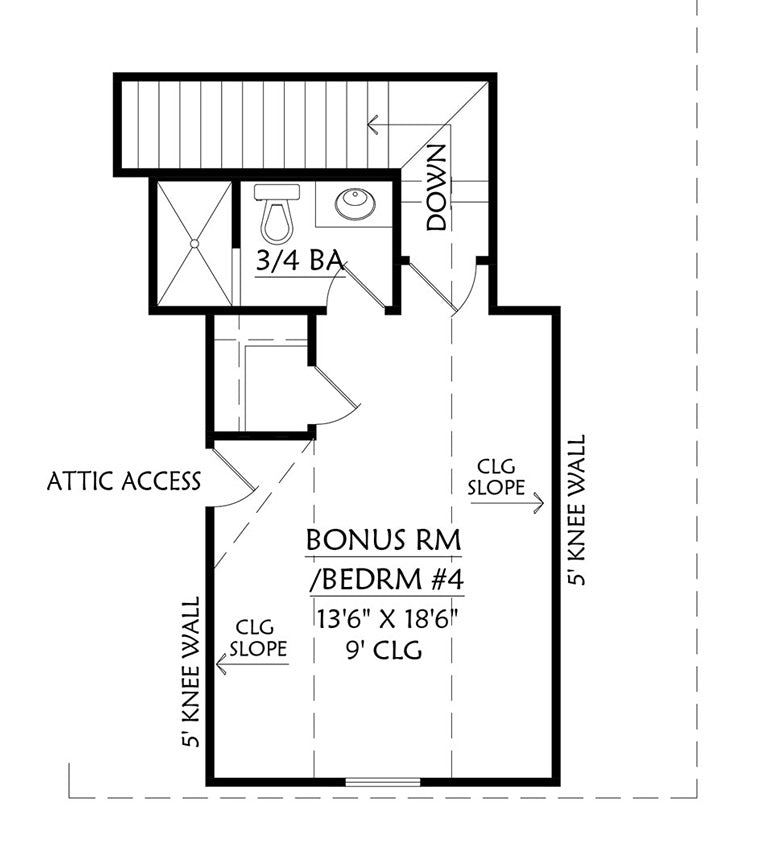 Cottageville House | Bonus Floor Plan