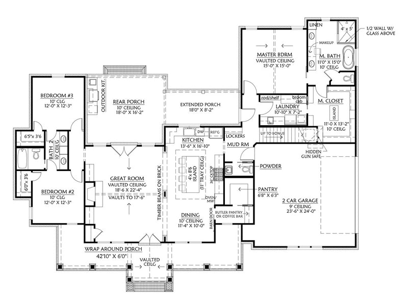 Cottageville House | First Floor Plan