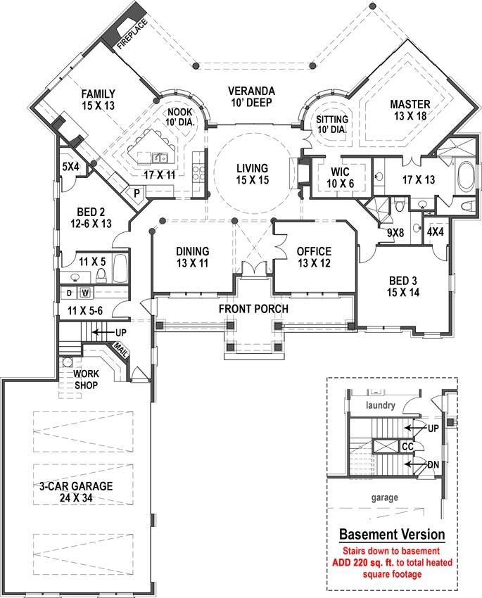 Cova Creek first floor, floor plan