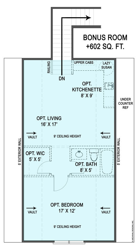 Cova Creek second floor, floor plan