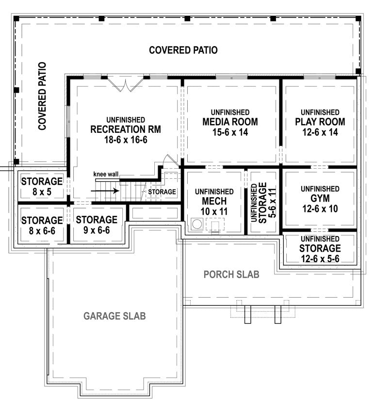 Cranberry Gardens | Basement Floor Plan