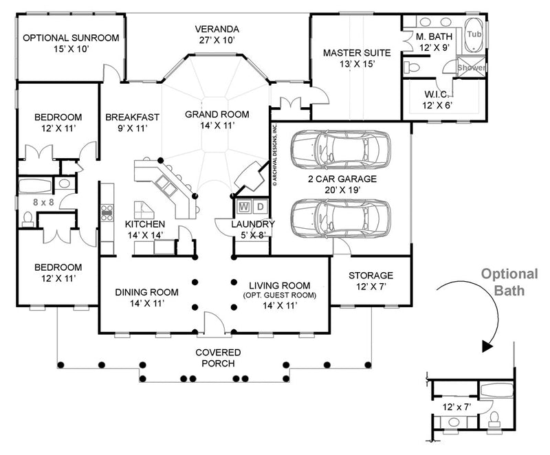 Crosswell Place first floor, floor plan