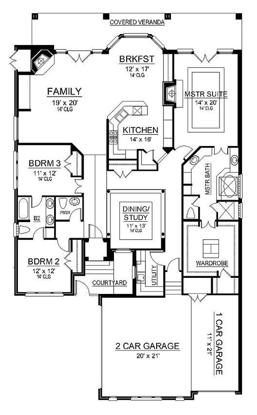 Crystal Lake | First Floor Plan