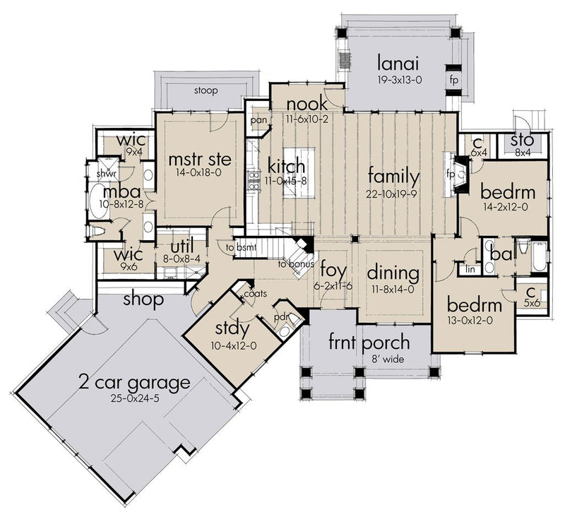 First Floor Plan | Crystal Pines House Plan