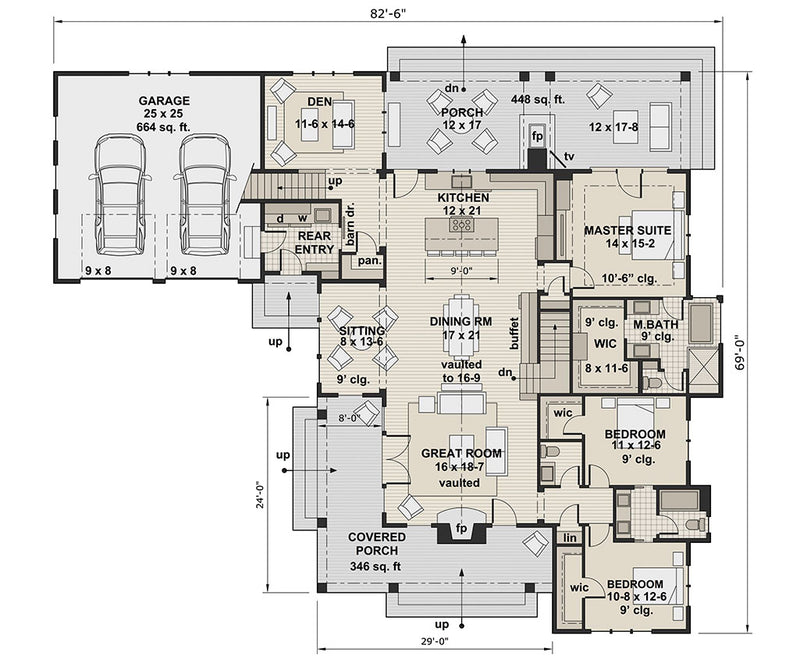 Deer Cove Farm, first floor plan