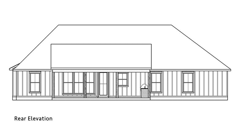 Deer Run House | Rear Elevation