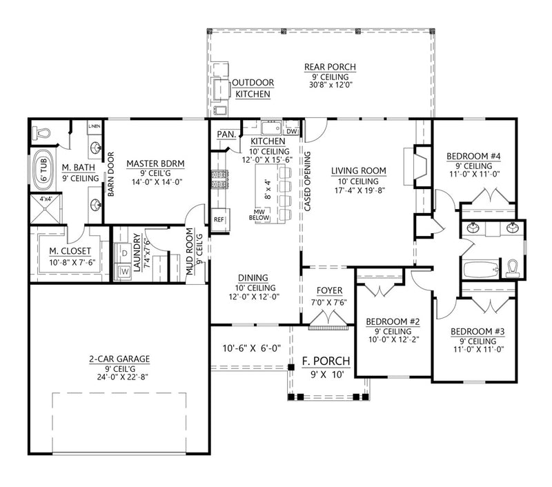 Deer Run House | First Floor Plan
