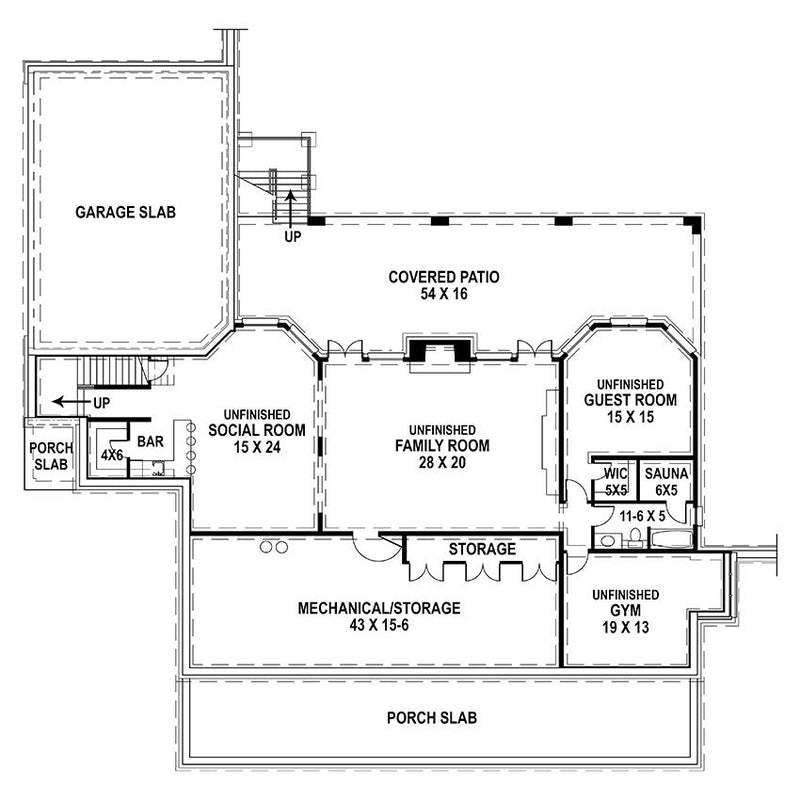 Deerfield Basement Floor Plan