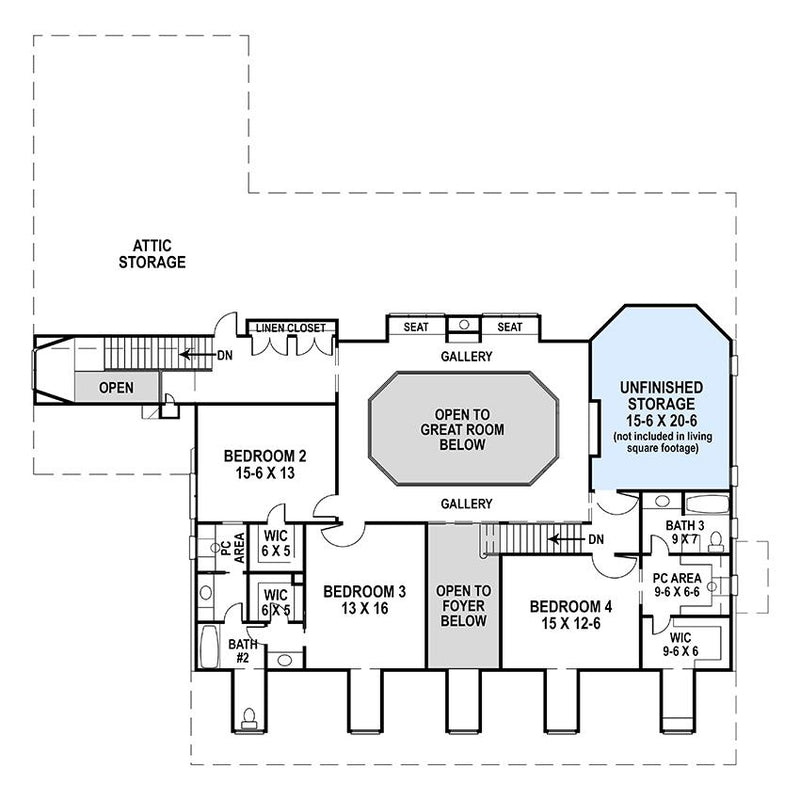 Deerfield Second Floor Plan
