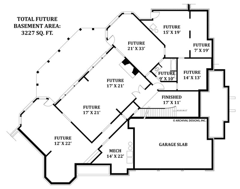 Delano basement floor plan