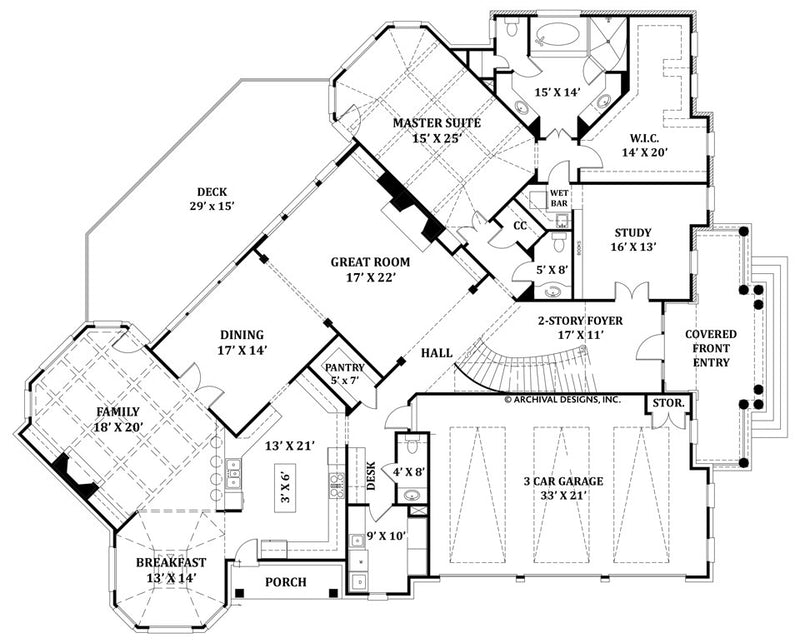 Delano first floor, floor plan