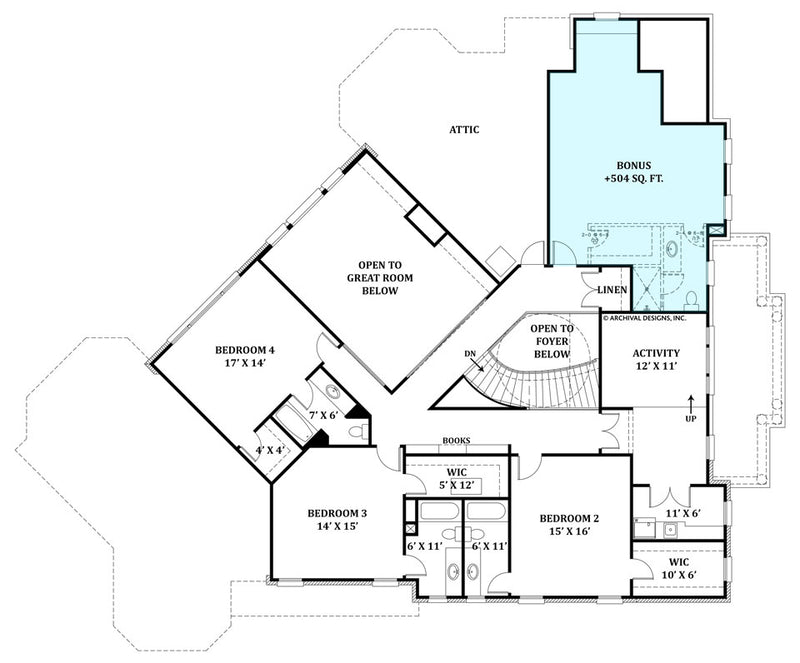 Delano second floor, floor plan